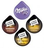 Pack Découverte x280 dosettes             pack : 5 paquets de chaques : espresso classic-café long classic-petit dej classic-milka