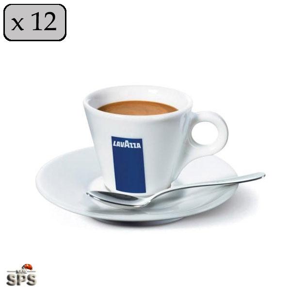 tasse espresso lavazza par 12 sous tasses. Black Bedroom Furniture Sets. Home Design Ideas
