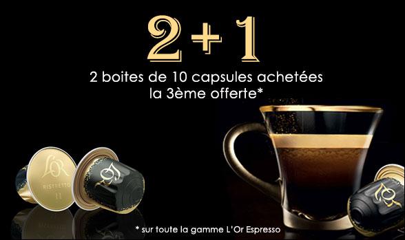 Offre l'or espresso