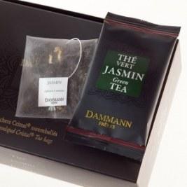 Thé vert au Jasmin Dammann 24 sachets Cristal suremballés