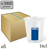Gobelets transparents LAVAZZA 16 cl
