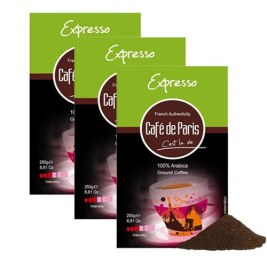 Expresso 250gr Café Paris x3