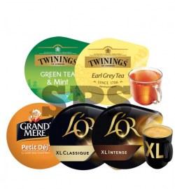 Pack Petit déjeuner                                            L'Or Classic XL,L'Or intense XL, Pti Dej GM, Green Tea, Earl Grey Tea