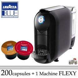 Machine Flexy Noire + 200 Cafés