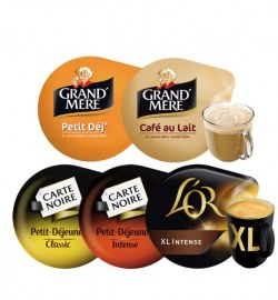 Pack Tassimo Café Petit déjeuner                                            L'Or Classic XL,L'Or intense XL, Café Pti dej intense, Café Pti dej classic, Pti dej GM