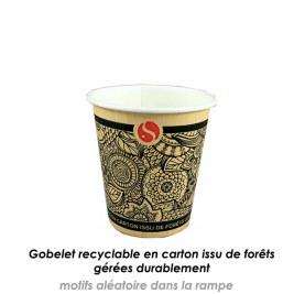Gobelets en carton 10cl recyclable