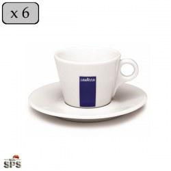 Tasses Cappuccino LAVAZZA X6 + SOUS TASSES