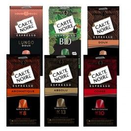 Pack Carte Noire x60 Compatible Nespresso - lungo classique - bio - 7 - 10 - 11 - Colombie