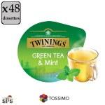 """Green Tea & Mint """"Twinings"""" x3              TASSIMO"""