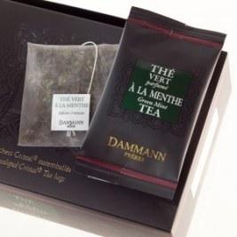 Thé vert à la menthe Dammann 24 sachets Cristal suremballés