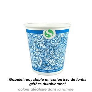 Gobelets en carton 19cl recyclable