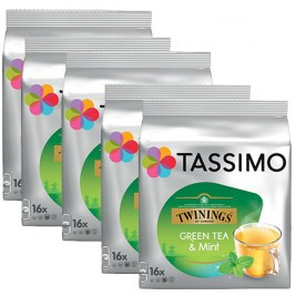 Green Tea & Mint x80 dosettes TASSIMO Twinings