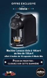 Idola Noire + 64 capsules . 16 passionnal+16espresso intense +16 deca + 16 lungo soave