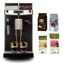 Lirika Black + Pack café grain (250gr san marco- 250gr Casa - 250gr Congo - 500gr Colombie)