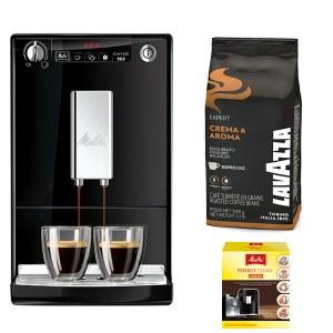 Caffeo Solo Noir +1kg Grain Crema Aroma Lavazza + Pack Entretien