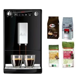 Caffeo Solo Noir + Pack café grain 250 gr casa,250 gr san marco,250 gr congo,500 gr colombie