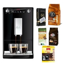 Caffeo Solo Noir + Pack café grain 500grVoix de la terre - 250gr carte noire - 250gr Casa - 250gr Congo + Pack Entretien