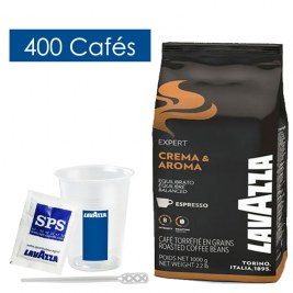 Pack Café grains & Accessoires 400 boissons