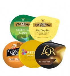 Pack Petit déjeuner Pti dej Tassimo - L'Or Intense XL- GM - Green Tea - Earl Grey Tea