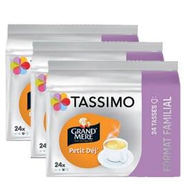 Petit déj x72 dosettes TRIPAC TASSIMO Grand Mère