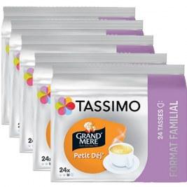 Petit déj x120 dosettes TRIPAC TASSIMO Grand Mère